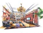 80张室内设计手绘作品