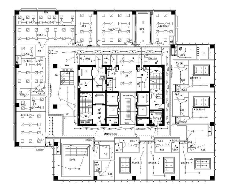 [江苏]南通大型国贸中心37层电气设计图纸(含各种弱电系统)_6