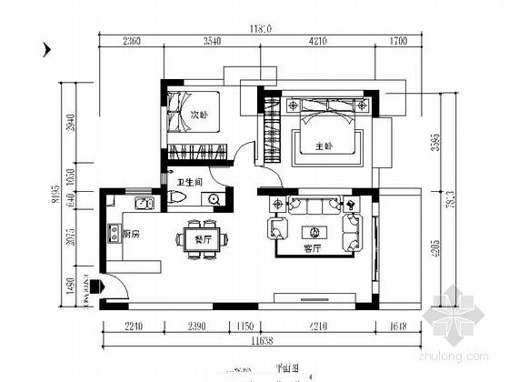 [毕业设计]现代简欧两室两厅室内装修图(含效果模型)