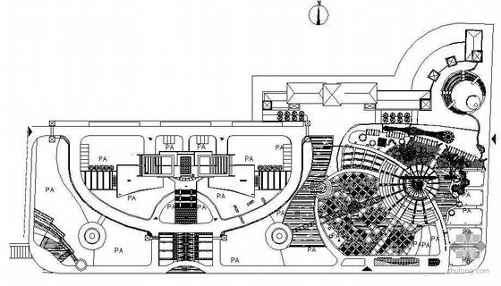 某市镇广场景观设计方案平面图