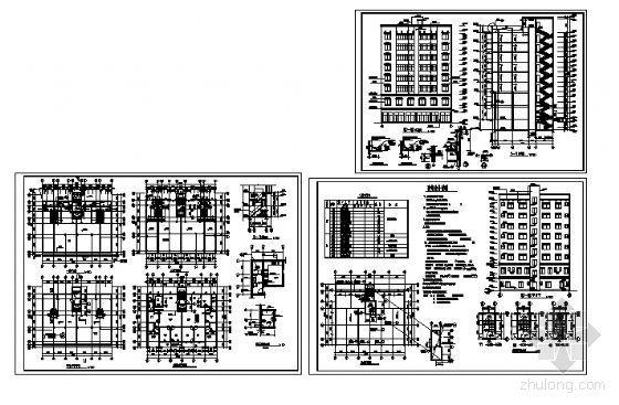 某九层商住楼建筑方案图-4