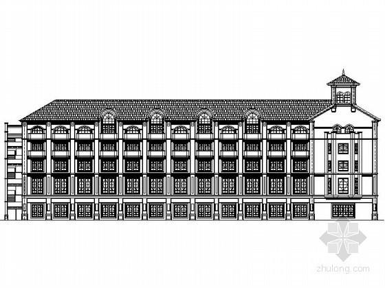 [重庆]某商业广场五层欧式商业用房建筑施工图(1号楼)