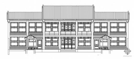 [北京]某四合院建筑施工图(经典仿古建筑)