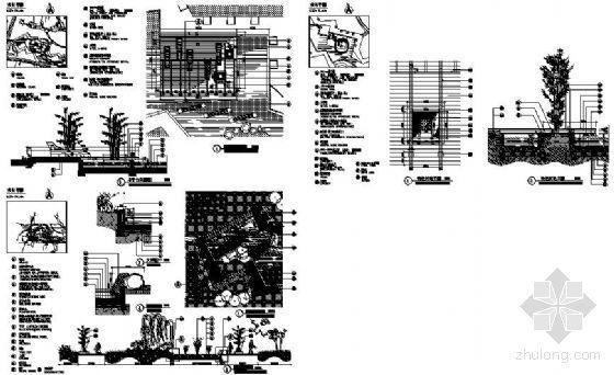 景观木平台节点详图