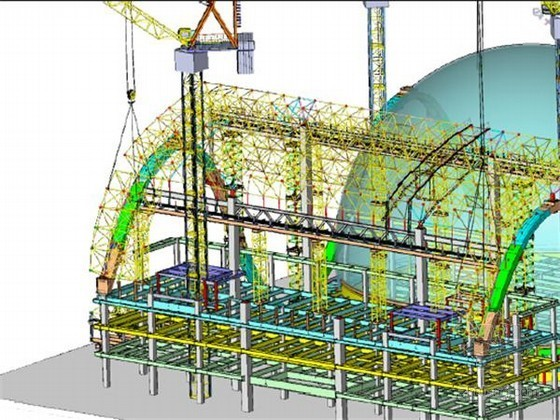 [浙江]大型钢结构博览中心72m跨飘带网架施工专项方案(295页 大量附图)