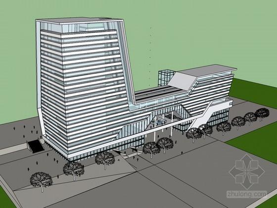 整洁明亮建筑SketchUp模型下载