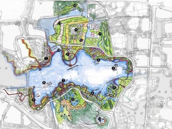 [浙江]滨水城市生态休闲中央公园景观规划设计方案