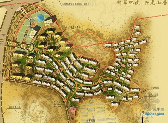 生态型城市规划总平面图