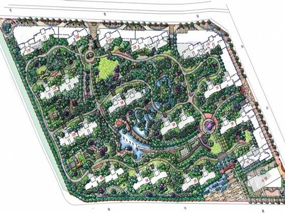 [河南]山居宁静自然居住区景观规划方案