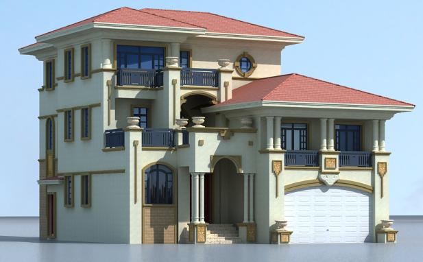 三層農村歐式自建房設計施工圖