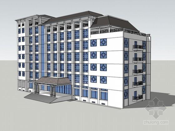 商业建筑SketchUp模型下载