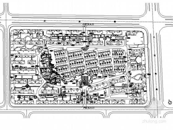 [靖江]花园小区景观工程总图设计
