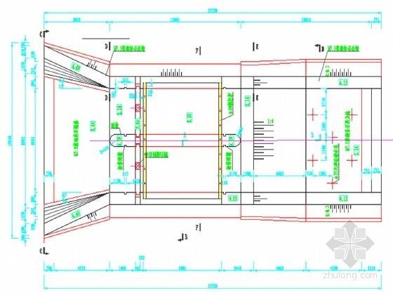水闸工程设计节点详图(启闭机梁 柱配筋图等11张CAD图)