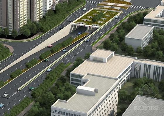 [湖南]跨江及下穿市政道路隧道工程施工图初步设计图209张(含机电 附属)