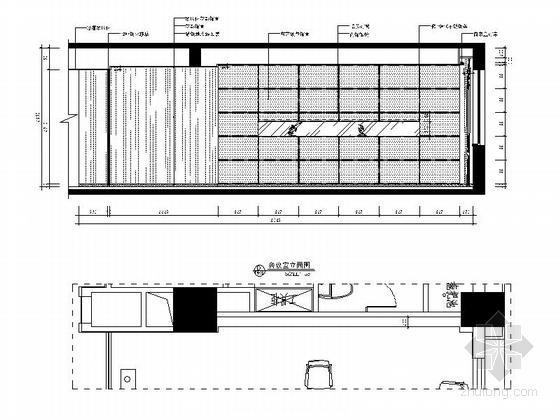 [武汉]现代矿业集团办公楼装修图(含效果)会议室立面图