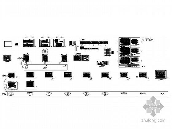 [上海]10层现代风格高校图书馆建筑施工图(知名设计院)-总缩略图