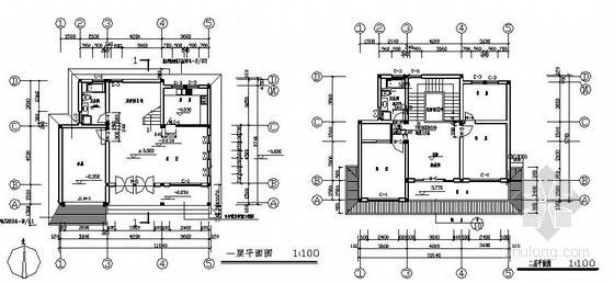 五套别墅建筑结构施工图
