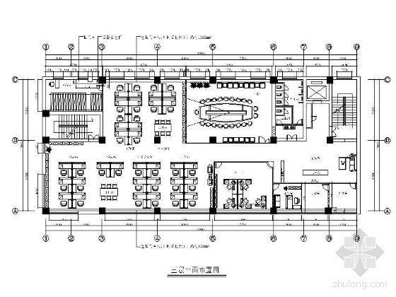 办公空间平面设计图