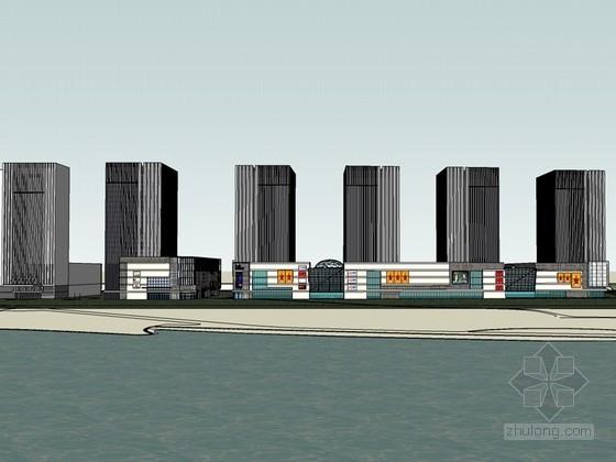 品牌商业建筑SketchUp模型下载