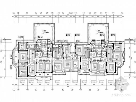 [济南]高层住宅小区暖通全套设计施工图271张(13栋楼 30万平)