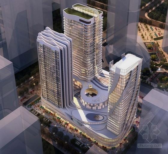 [青岛]25层商业综合体建筑设计方案文本