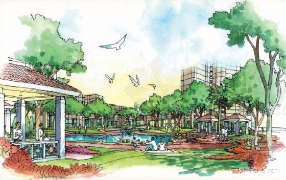 滨湖小区景观规划设计方案-2