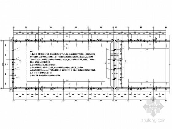 排架结构国家粮食储备库平房仓结构施工图