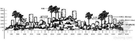 植物造型区景观大样图