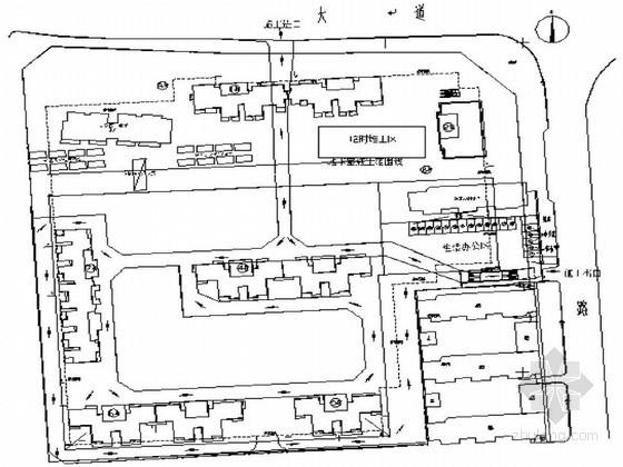 [湖北]住宅楼基坑排桩支护施工方案(钻孔桩 SMW工法)