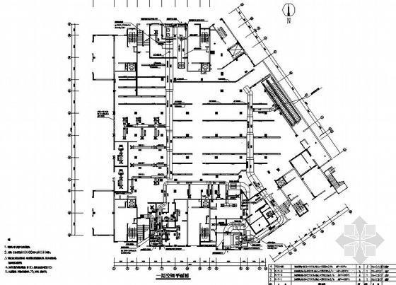 某二层商场空调平面图