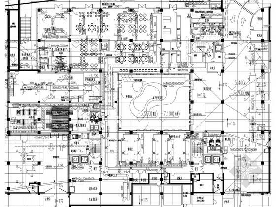 [上海]多层建筑办公楼空调通风及防排烟系统设计施工图(地源热泵系统)