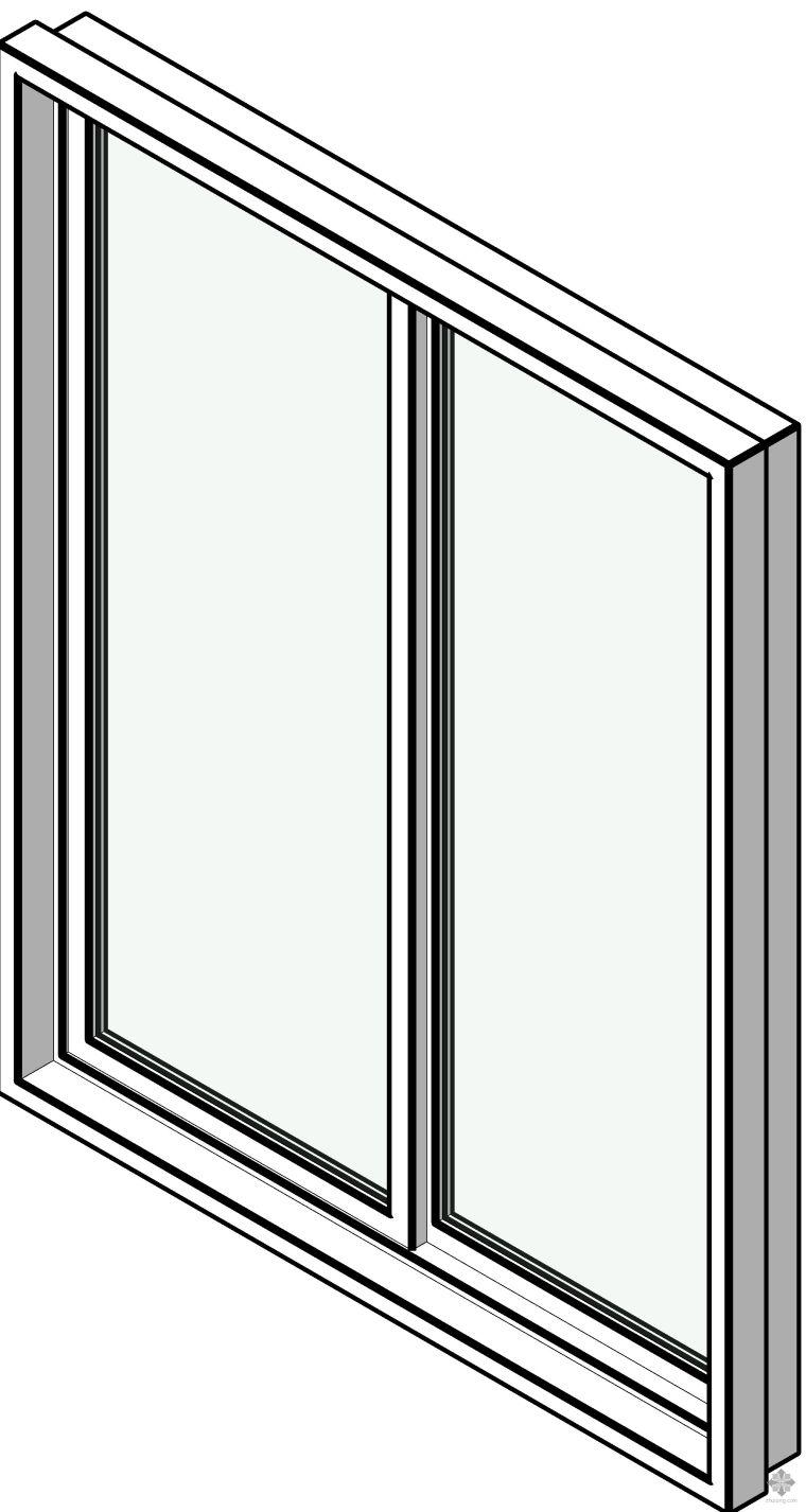 铝合金双扇推拉窗