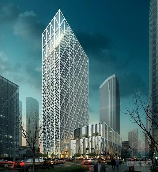 [天津]43层现代风格办公楼建筑设计方案文本(含cad)