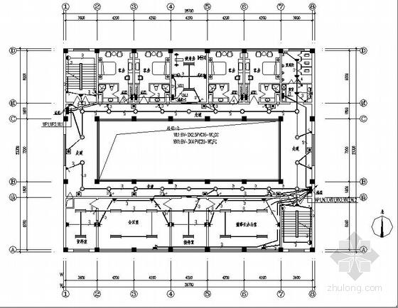 某制药厂综合楼电气设计图-建筑电气施工图-土木资料网
