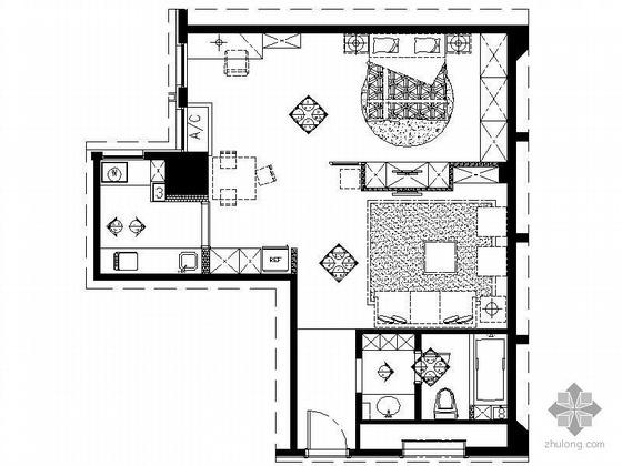现代黑白小户型设计方案
