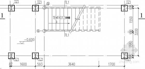 食堂室内外钢楼梯节点构造详图