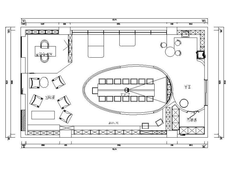 [成都]鹅蛋形趣味浪漫办公空间室内设计施工图(含效果图)