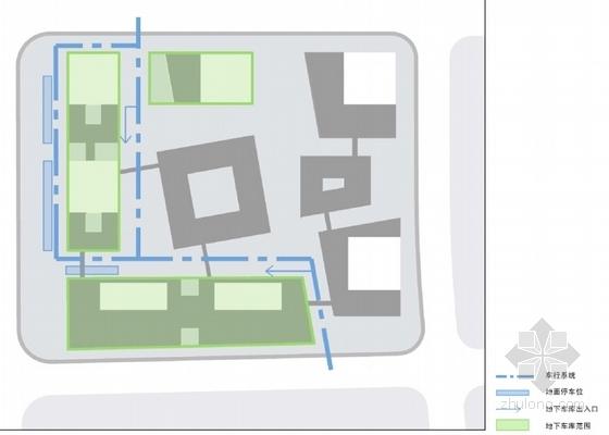 [上海]辐射组合型现代化商业及办公综合体设计方案文本-辐射组合型现代化商业及办公综合体分析图