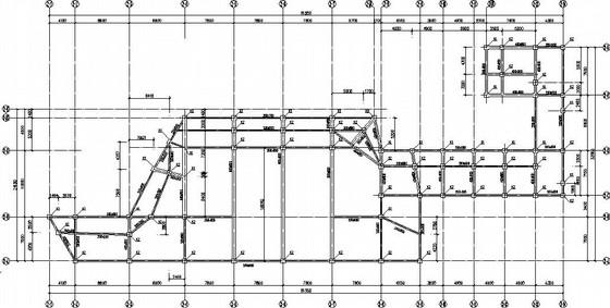双层钢框架组合楼板结构施工图