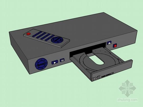 VCD播放器3D模型资料下载-DVD播放器sketchup模型