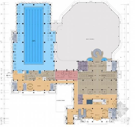 [河北]豪华舒适大型休闲会所设计方案含效果图