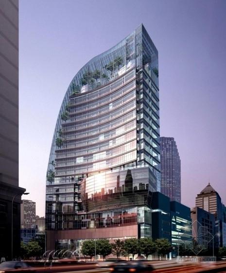 [上海]某18层企业办公楼建筑设计方案文本