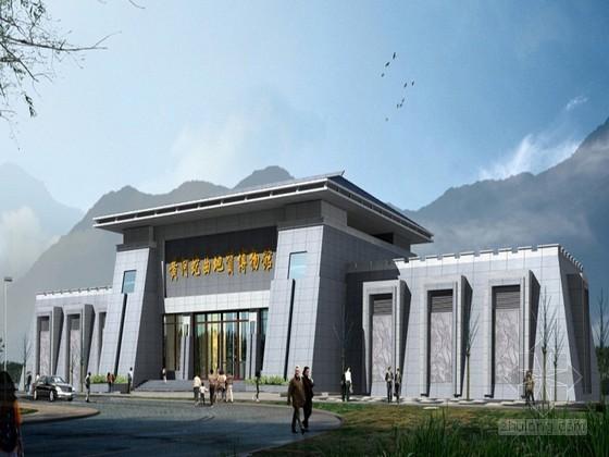 [临汾]某地质博物馆建筑方案设计(原创)