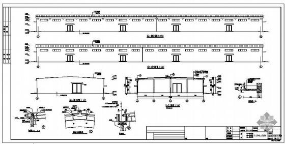 安徽某成品库钢结构建筑结构图