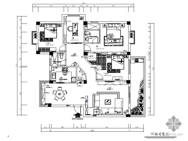 现代四居室简装修图