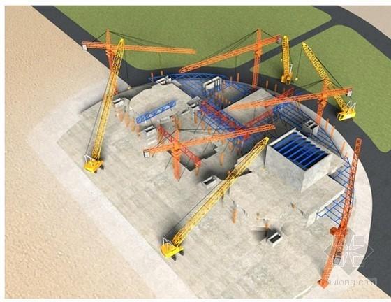 大面积屋盖钢桁架及两层结构吊挂施工工法