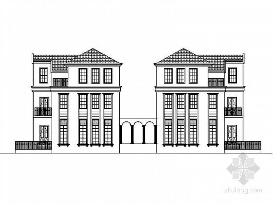 [营口]某三层双拼别墅建筑施工套图