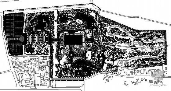 杜甫故里景观规划植物配置平面图