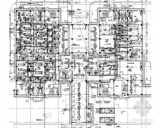 医院建筑群施工图设计资料下载-[江西]医院综合建筑群通风空调及消防系统设计施工图(冰蓄冷系统)