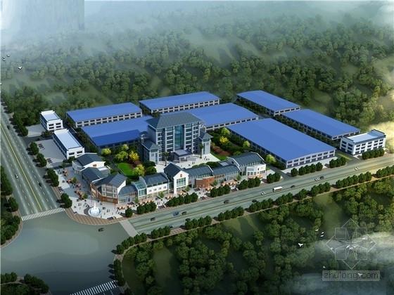 [南昌]汽车零部件厂区规划设计方案设计(含办公楼 综合楼 车间 商业街)